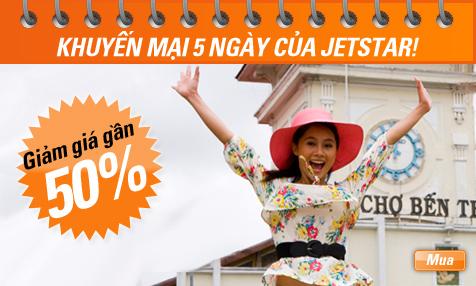Jetstar Pacific giảm giá vé tới 50% trước tết 2010.