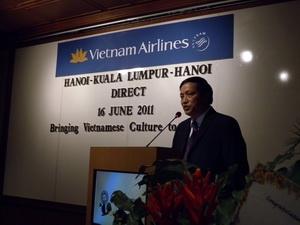 ng Mai Quốc Tuấn, Trưởng đại diện của Vietnam Airlines tại Malaysia. (Ảnh: Vietnam+)