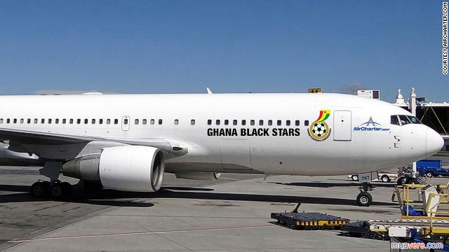 Aircharter Cộng hòa Ghana sơn lại máy bay mùa world cup