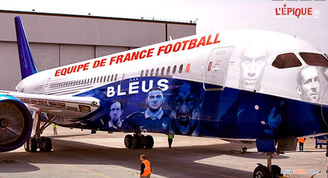 World cup France's photoshopped Boeing