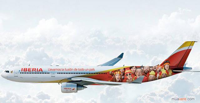Iberia Tây Ban Nha sơn máy bay world cup