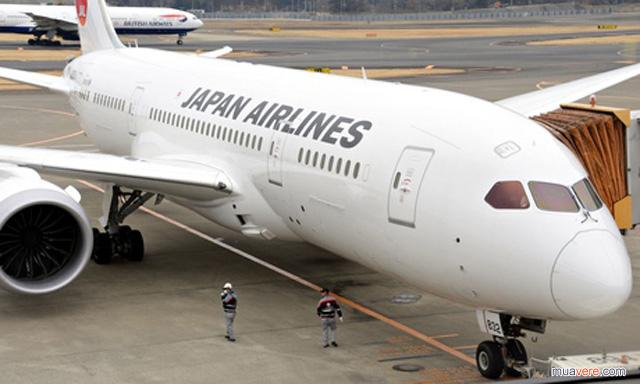 Japan Airlines Dreamliner cũng thay áo vì world cup