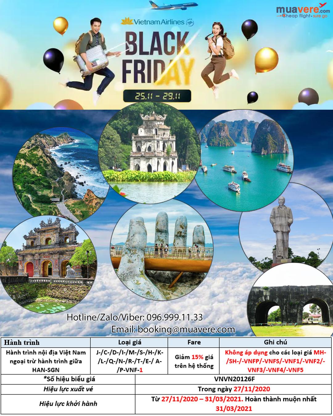 Vietnam Airlines khuyến mại Black Friday