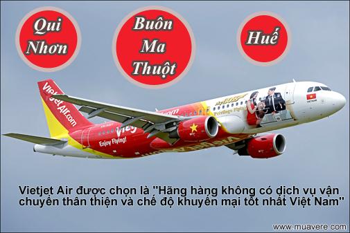 Vietjet Air mở thêm 3 chặng bay đến Buôn Ma Thuột, Qui Nhơn và Huế