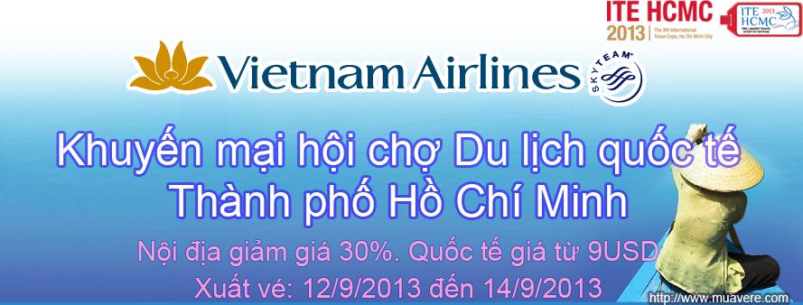 Vietnam Airlines khuyến mại hội chợ ITE-HCMC-2013