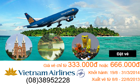 Vietnam Airlines khuyến mại mùa thu 2013