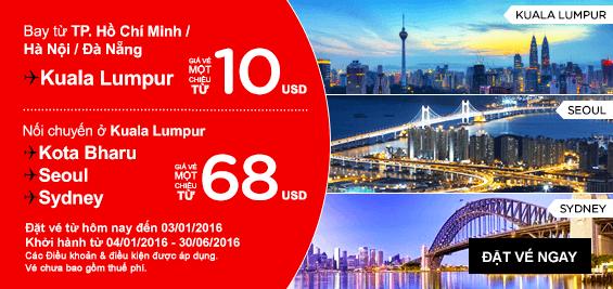 Giá hấp dẫn đi Malaysia của Airsai cuối năm nay.