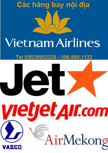Các hãng bay nội địa Việt Nam. © muavere.com