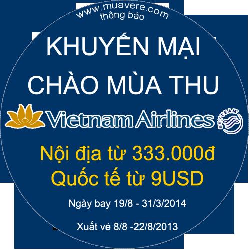 khuyen mai mua thu vietnam airlines