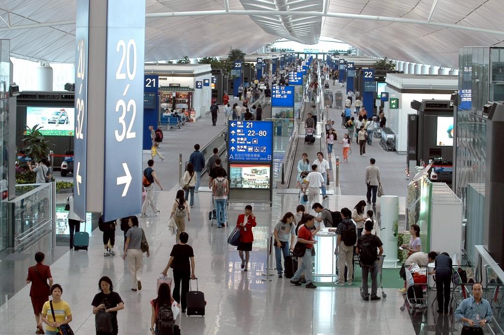Một góc sân bay Hongkong
