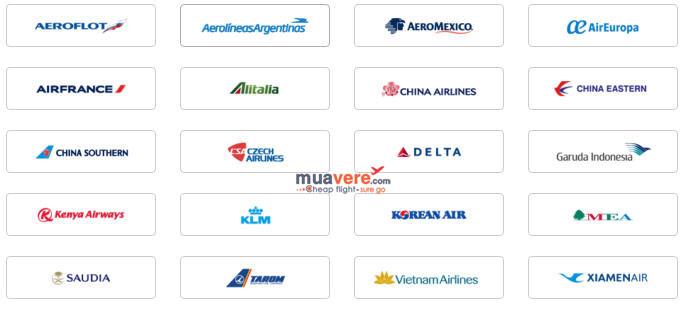 Bay trên Jetstar Pacific được lấy vé thưởng trên các hãng hàng không thuộc SkyTeam.