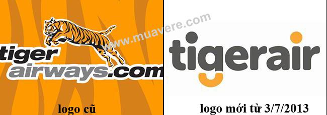 Tiger Airways đổi logo và tên thành TigerAir