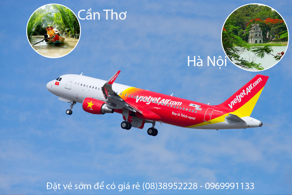 Ve may bay Can Tho di Ha Noi Vietjet