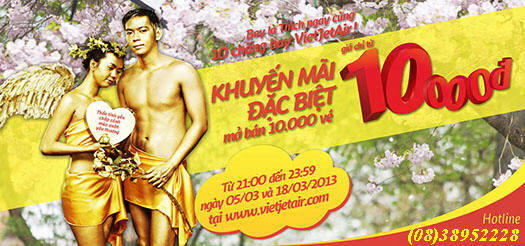 Ve may bay 10000 vietjet