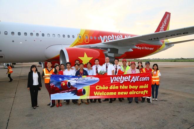 Vietjet Air đón tàu bay mới.