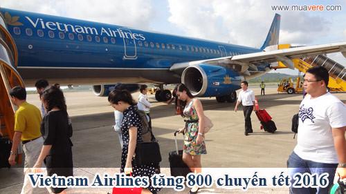 Vietnam Airilnes tăng chuyến bay tết 2016. Ảnh: © muavere.com